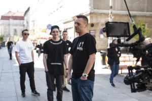 2. klip Pokahontaz zwiastujący nową płytę grupy już 6.06 na MaxFloRecTV. Od lewej - Rahim, DJ West, Tymek, Fokus. Fot. Materiały promocyjne MaxFloRec